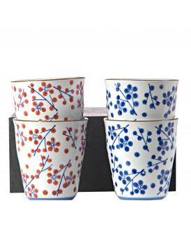 Pols Potten set 4 bekers Japanese dots