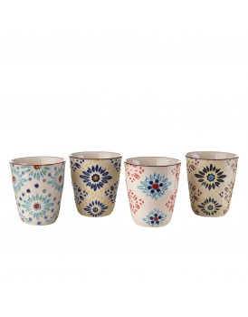 Pols Potten set4 bekers mosaic flowers