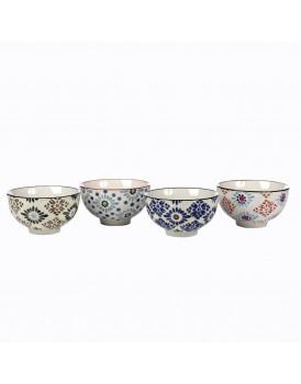 Pols Potten set 4 schaaltjes Mosaic flowers