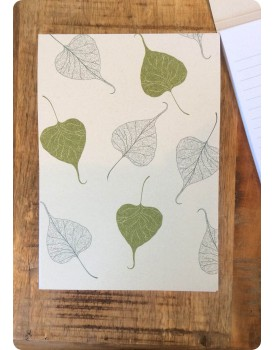 Organic schrijbloc A5 banyan
