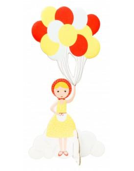 Studio Roof pop out kaart ballonnen meisje