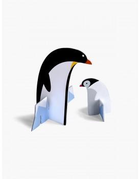 Studio Roof pop out kaart pinguin