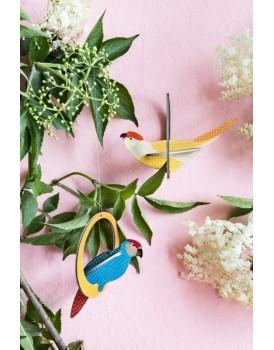 Studio Roof  pop out kaart swinging crowned parakeets