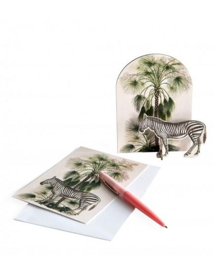 Studio Roof pop out kaart zebra