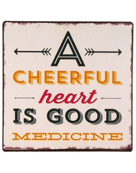 Tekstbord cheerfull heart