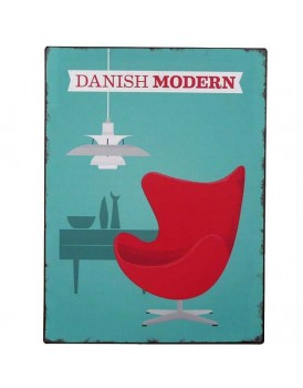 Tekstbord Danish modern