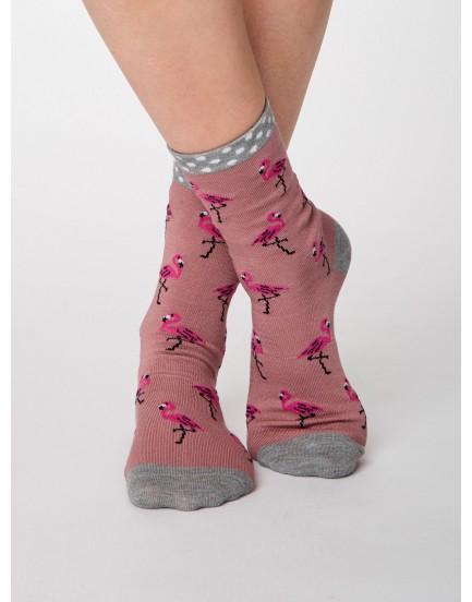 Thought damessokken bamboo flamingo pink