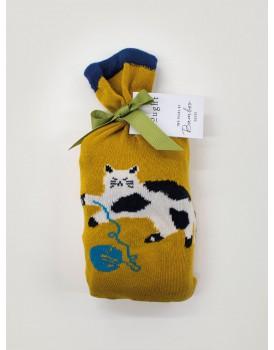 Thought bamboo damessokken giftset kitty cat