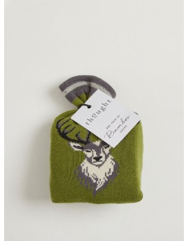 Thought bamboo herensokken giftbag stag