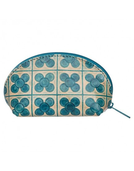 Tranquillo leder portemonnaie blauw