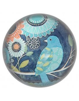 Tranquillo presse papier vogel blauw