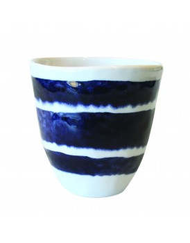 UNC  aardewerk beker blauw