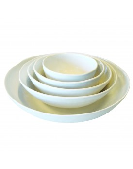 UNC  aardewerk schaal wit 19 cm
