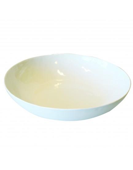 UNC  aardewerk schaal wit 33 cm